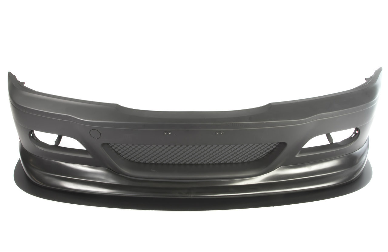 HARD Motorsport Front Splitter shown with BMW E46 M3 style front bumper and an ACS style front lip