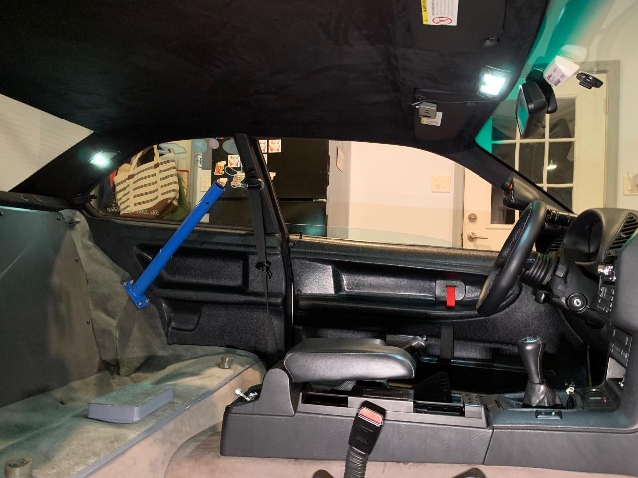 BMW OEM E30 COUPE PASSENGER RIGHT REAR EXTERIOR B PILLAR BLACK WINDOW TRIM PANEL