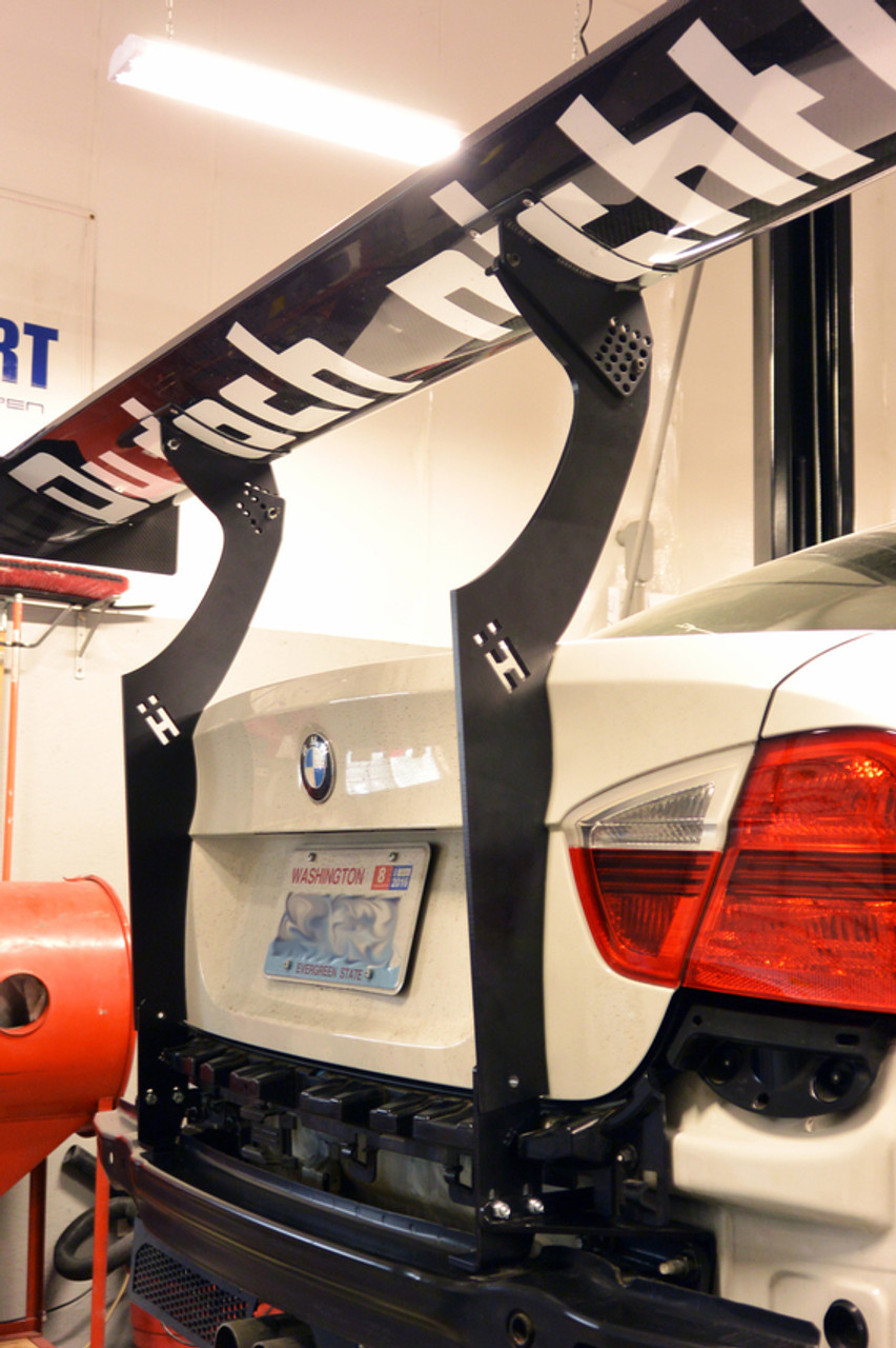"APR 71"" carbon fiber Spoiler for use with the HARD Motorsport BMW E90 Uprights on an E90"