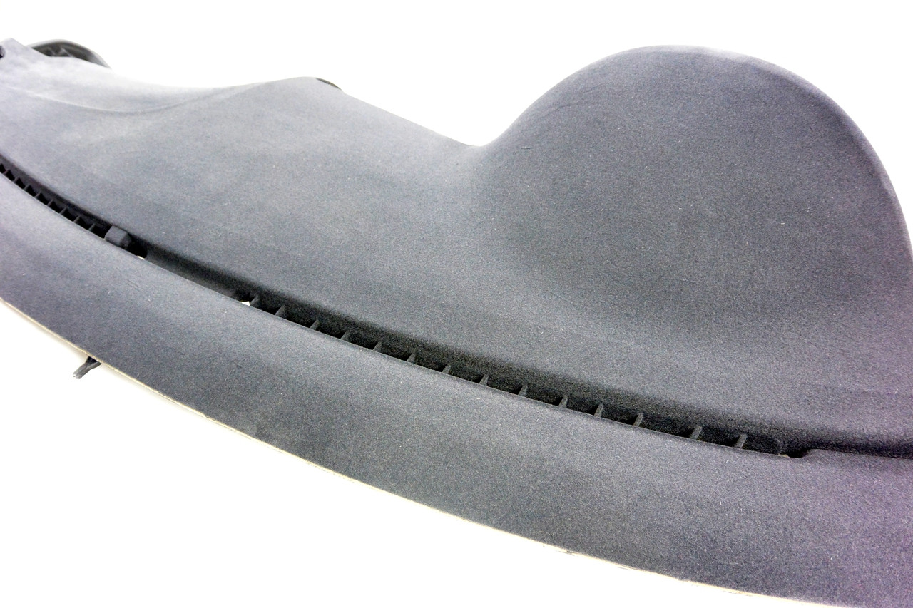 The backside of the HARD Motorsport Suede Anti-Glare Dash Flocking Kit in the  Matte Charcoal