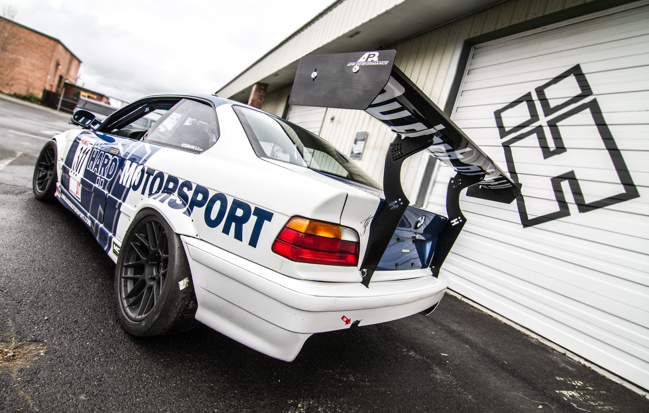 Hard Motorsport Uprights on the Shop race car...BMW E36 M3 Coupe