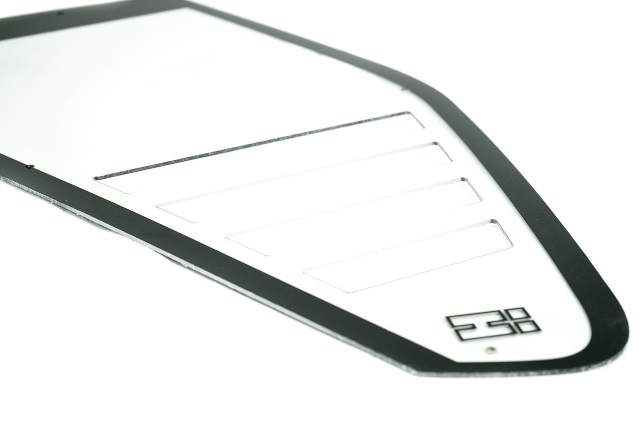 E36 Rear RS Style Polycarbonate Window with HARD Motorsport logo SOLD IN PAIRS