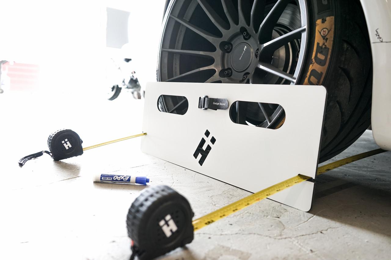 HARD Motorsport Toe Boards shown in use.