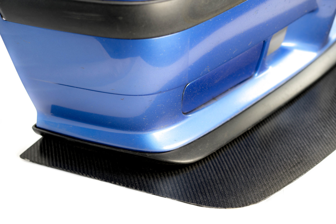 Installed E36 M3  Carbon Fiber Splitter on M3 bumper cover with stock lip