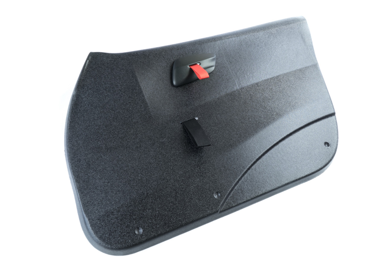Front Lightweight Door Panel for BMW E9X Sedan with our RS Style Door Pulls in Red