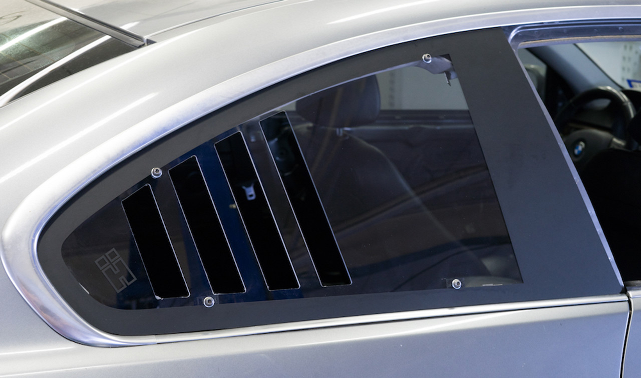 HARD Motorsport CUP Style Vented Rear Windows Installed