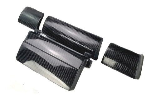 HARD Motorsport Dash Carbon Fiber OEM Style Block-off/Delete Panel Kit - BMW E46 Full Kit