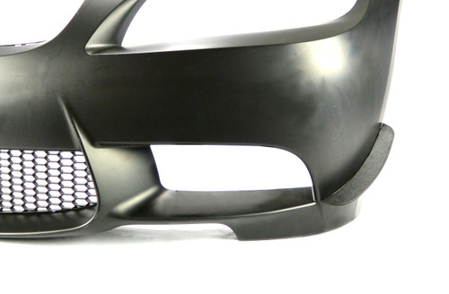 BMW E9x Bumper with HARD Motorsport Dive Plane / Aero Canard installed Subtle profile for a factory appearance.