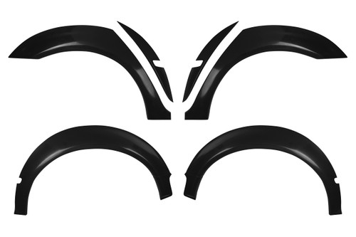 HARD Motorsport BMW E46 M3 Fender Flares for E46 Sedan. This is a full set (all four corners).