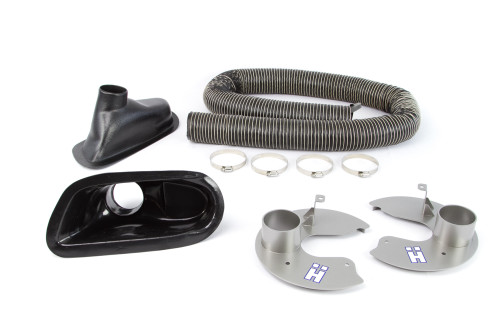 Clubsport Brake Cooling Kit for BMW E46 M3  Shown with optional Backing Plates