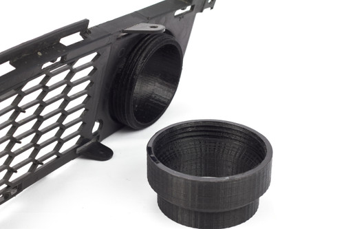 Non-M BMW E9x Brake duct Inlet unthreaded from factory grill