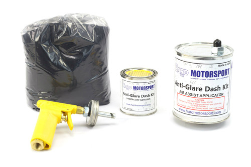 Full HARD Motorsport Suede Anti-Glare Dash Flocking Kit Including Air gun, Canister, Adhesive,  and suede