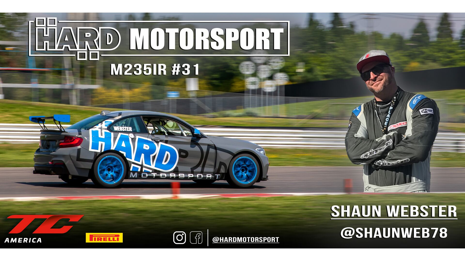 Shaun Webster set to drive the HARD Motorsport #31 M235iR in TC America