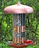 Copper Triple Tube Bird Feeder