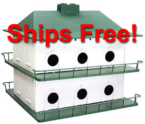 PH12 Heath Plastic 12 Room Purple Martin House