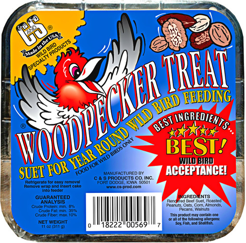 C&S Woodpecker Treat Suet 12Pk