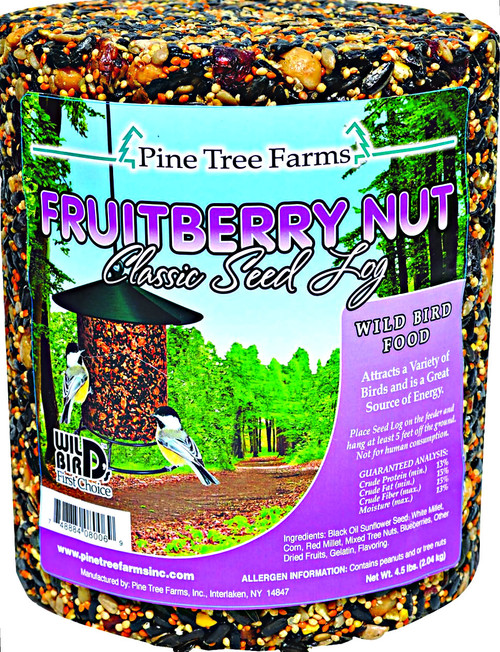 Pine Tree Farms Fruitberry Nut Seed Log 72oz.