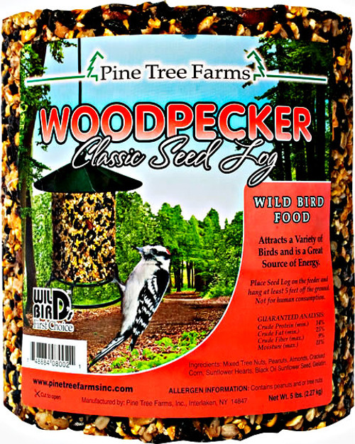 Pine Tree Farms Woodpecker Seed Log 80oz.