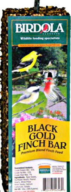 Birdola Finch Black Gold Bar 10Pk