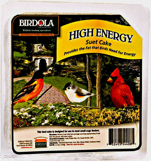 Birdola High Energy Suet Cake 12Pk