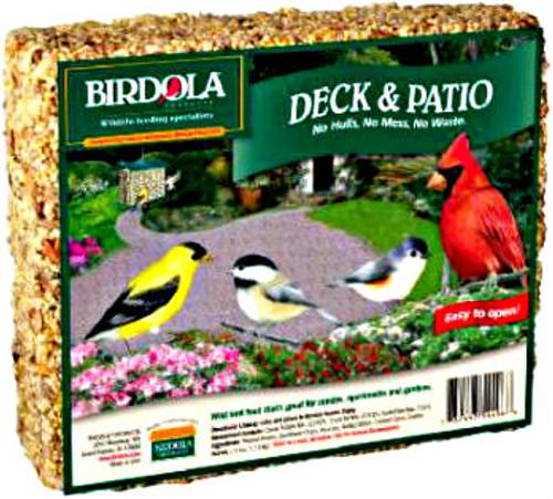 Birdola Deck & Patio Seed Cake 8Pk