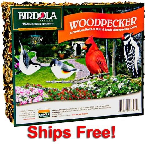 Birdola Woodpecker Seed Cake 16-Pack