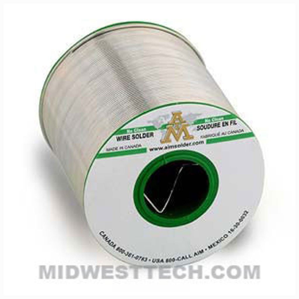 "14167 |  SN100C Lead-Free, No-Clean Wire Solder, GlowCore 2.5% Flux, 0.015"" dia - .5 lb Roll"