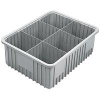 """TB92080NAT     10.875""""x16.5""""x8"""" Natural Polyurethane Divider Tote Boxes, 6/CS"""
