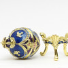 "Mini Royal Blue Egg Box with Crown [2½""]"