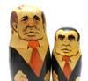 Gorbachev and Brezhnev in the set Gorbachev with Men in Black Communist Leaders