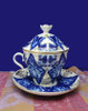 Love Birds Tea Cup with Lid and Saucer