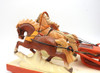 Bear Driving a Troika  Bogorodsk Painted Carving view of horses