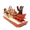 Bear Driving a Troika Bogorodsk Carving