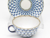Cobalt Net Teacup and Saucer Lomonosov Porcelain Another View