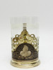 "Silver  ""Kubachi"" Niello Collective Presentation Tea Glass Holder"
