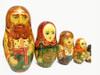 Russian Peasant Family Artistic Matryoshka Doll Closeups