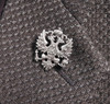 Russian Double Headed Eagle Pewter Finish Lapel Pin