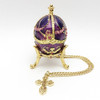 "Mini Royal Purple Egg Box w/Cross [2½""]"