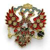 Russian Double Headed Eagle Enamel Lapel Pin