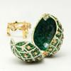 "Mini Emerald  with Orange Flowers  [2½""]"
