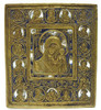 Virgin of Kazan 19th century brass icon