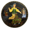 Russian Lacquer Brooch Going to the Well