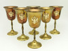 Brass Goblets Russian Double Headed Eagle  - IRAA