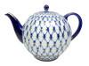 Large Cobalt Net Tea Pot
