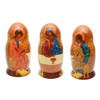 Byzantine Russian Orthodox Icons Matryoshka (first doll seen from three sides)