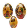 Russian Spinning Lesson Easter Egg from three sides