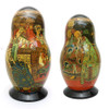 Tsar Saltan Bilibin Artistic Matryoshka   1st Doll Front and Back
