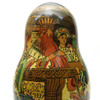 Tsar Saltan Bilibin Artistic Matryoshka  Closeup 1st DollTsar Saltan Bilibin Artistic Matryoshka  5th Doll Front and Back