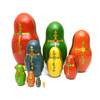 Russian Orthodox Icons (Русские православные иконы) Matryoshka Doll Backs