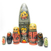 Rocket Ship with Young Cosmonauts Nesting Toy Set